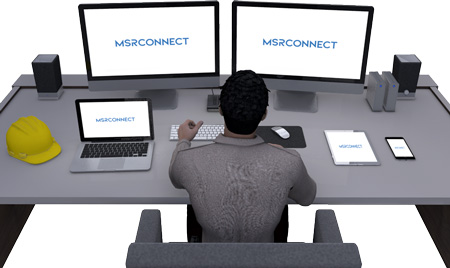 MSR Connect Advanced Real Time 3D Interface Software illustration