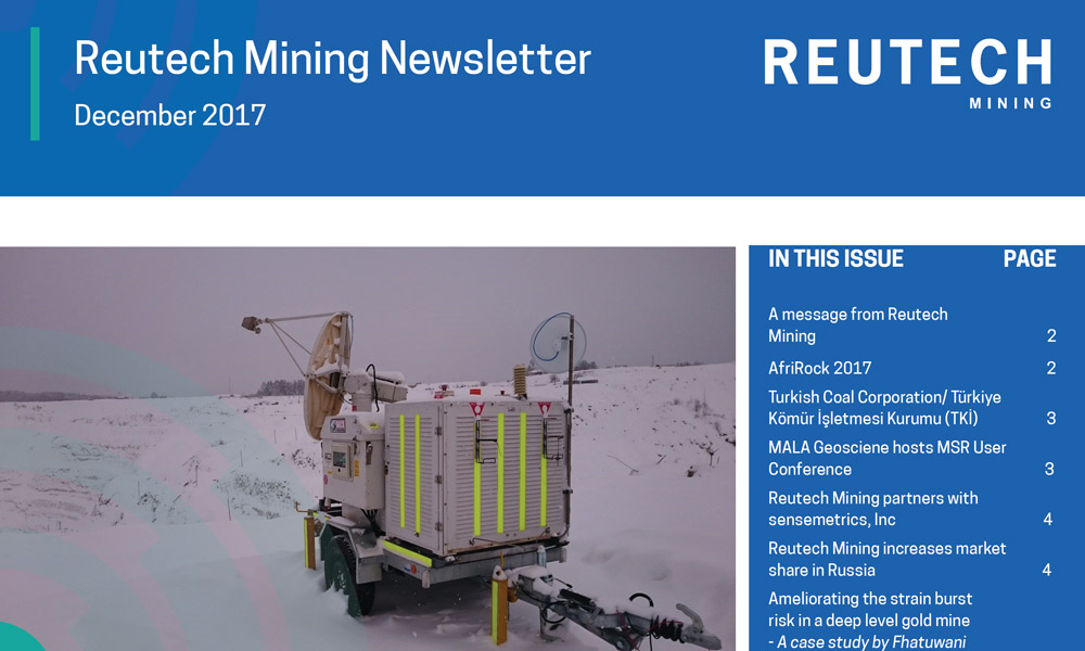 Movement & Surveying Radar Quarterly Newsletter Dec 2017